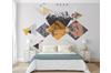 3D Home Wallpaper Geometric Patterns 079 ACH Wall Murals Woven paper (need glue), XXXL 416cm x 254cm (WxH)(164''x100'')