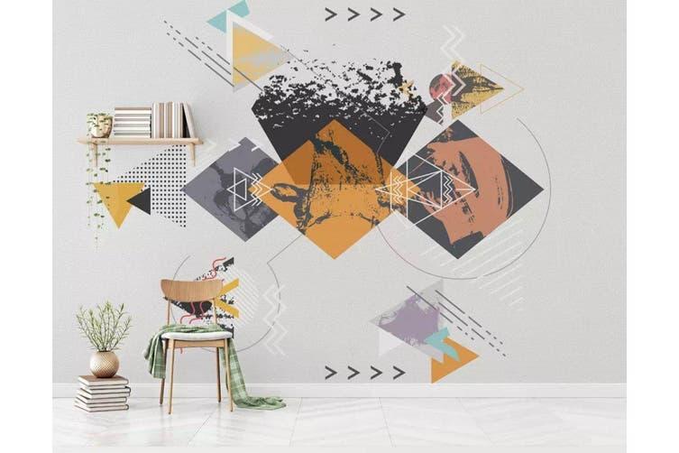 3D Home Wallpaper Geometric Patterns 079 ACH Wall Murals Self-adhesive Vinyl, XXXL 416cm x 254cm (WxH)(164''x100'')
