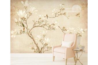 3D Home Wallpaper Branch Flower 078 ACH Wall Murals Woven paper (need glue), XXL 312cm x 219cm (WxH)(123''x87'')