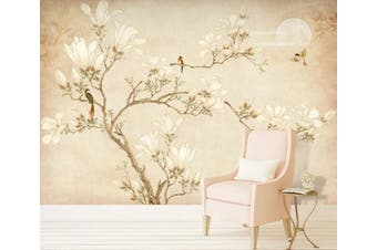 3D Home Wallpaper Branch Flower 078 ACH Wall Murals Self-adhesive Vinyl, XXXXL 520cm x 290cm (WxH)(205''x114'')