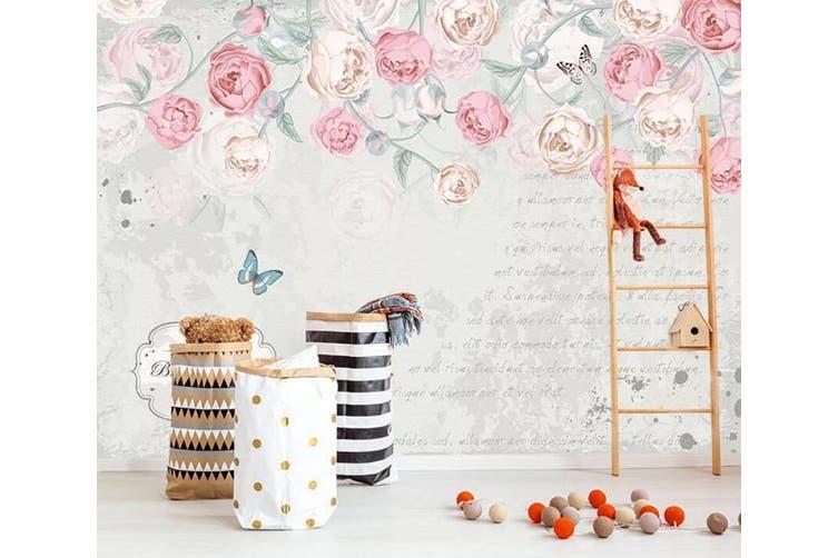 3D Home Wallpaper Pink Flowers 075 ACH Wall Murals Woven paper (need glue), XL 208cm x 146cm (WxH)(82''x58'')