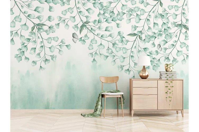 3D Home Wallpaper Green Leaves 074 ACH Wall Murals Woven paper (need glue), XXL 312cm x 219cm (WxH)(123''x87'')