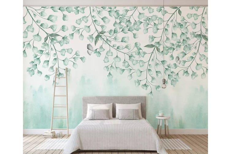 3D Home Wallpaper Green Leaves 074 ACH Wall Murals Woven paper (need glue), XXXL 416cm x 254cm (WxH)(164''x100'')