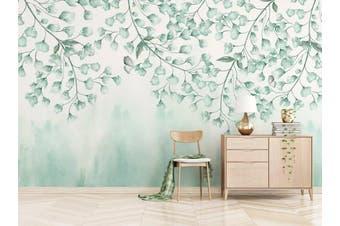 3D Home Wallpaper Green Leaves 074 ACH Wall Murals Woven paper (need glue), XXXXL 520cm x 290cm (WxH)(205''x114'')
