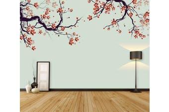 3D Home Wallpaper Red Plum 067 ACH Wall Murals Woven paper (need glue), XXL 312cm x 219cm (WxH)(123''x87'')