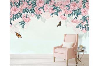 3D Home Wallpaper Flower Butterfly 063 ACH Wall Murals Self-adhesive Vinyl, XXXXL 520cm x 290cm (WxH)(205''x114'')
