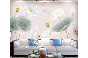 3D Home Wallpaper Lotus Pond 061 ACH Wall Murals Woven paper (need glue), XXXXL 520cm x 290cm (WxH)(205''x114'')