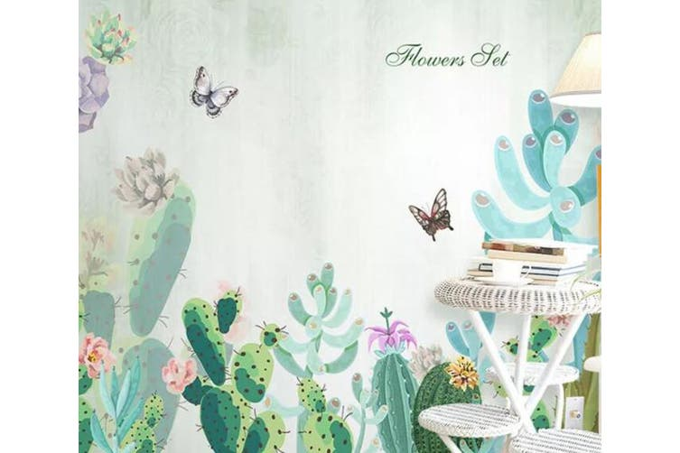 3D Home Wallpaper Butterfly Green Plant 060 ACH Wall Murals Woven paper (need glue), XXXL 416cm x 254cm (WxH)(164''x100'')