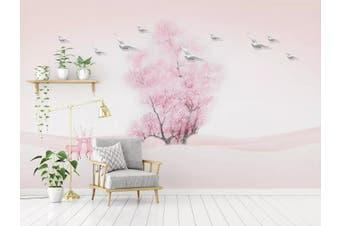 3D Home Wallpaper Pink Tree 058 ACH Wall Murals Self-adhesive Vinyl, XXL 312cm x 219cm (WxH)(123''x87'')
