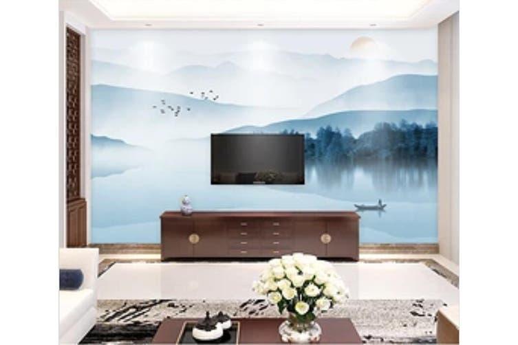 3D Home Wallpaper River Boat 051 ACH Wall Murals Self-adhesive Vinyl, XXXL 416cm x 254cm (WxH)(164''x100'')