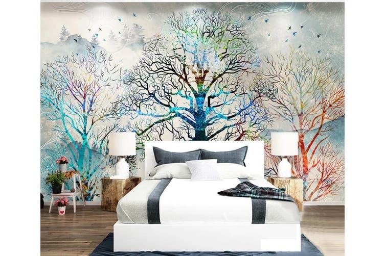 3D Home Wallpaper Color Tree Y7 ACH Wall Murals Self-adhesive Vinyl, XL 208cm x 146cm (WxH)(82''x58'')