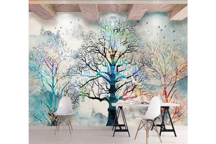 3D Home Wallpaper Color Tree Y7 ACH Wall Murals Self-adhesive Vinyl, XXL 312cm x 219cm (WxH)(123''x87'')