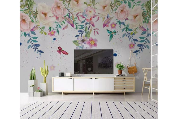 3D Home Wallpaper Colored Flowers Y6 ACH Wall Murals Woven paper (need glue), XL 208cm x 146cm (WxH)(82''x58'')