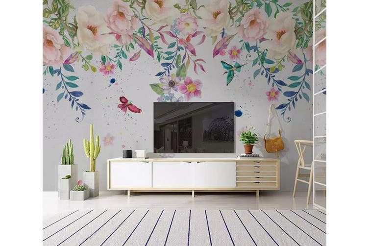 3D Home Wallpaper Colored Flowers Y6 ACH Wall Murals Self-adhesive Vinyl, XXXXL 520cm x 290cm (WxH)(205''x114'')