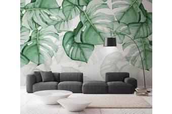 3D Home Wallpaper Green Leaves Y5 ACH Wall Murals Self-adhesive Vinyl, XXL 312cm x 219cm (WxH)(123''x87'')