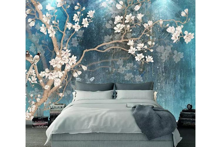 3D Home Wallpaper Birds And Flowers Y3 ACH Wall Murals Self-adhesive Vinyl, XL 208cm x 146cm (WxH)(82''x58'')