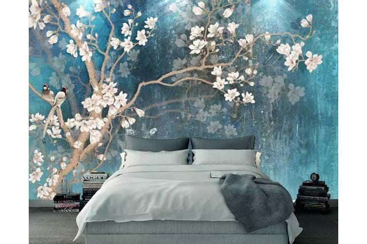 3D Home Wallpaper Birds And Flowers Y3 ACH Wall Murals Self-adhesive Vinyl, XXL 312cm x 219cm (WxH)(123''x87'')