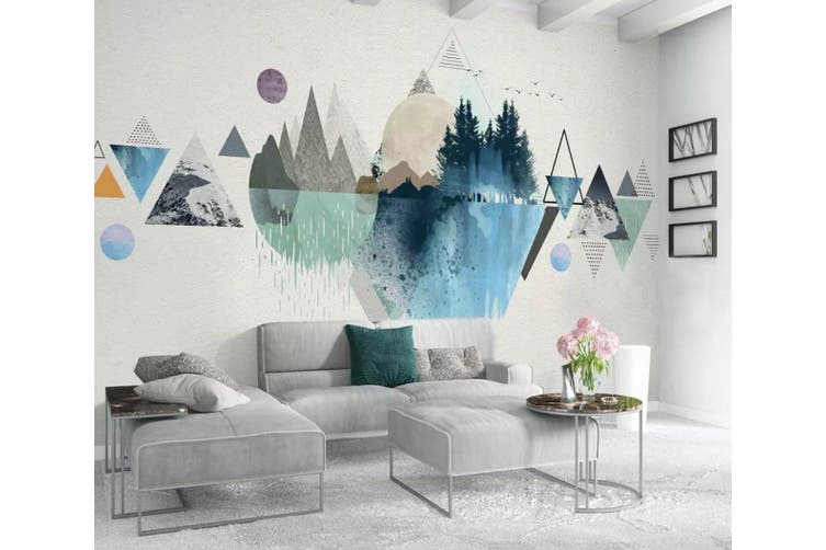3D Home Wallpaper Color Inkjet Y2 ACH Wall Murals Woven paper (need glue), XXXXL 520cm x 290cm (WxH)(205''x114'')