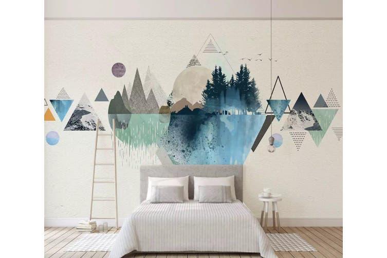 3D Home Wallpaper Color Inkjet Y2 ACH Wall Murals Self-adhesive Vinyl, XL 208cm x 146cm (WxH)(82''x58'')
