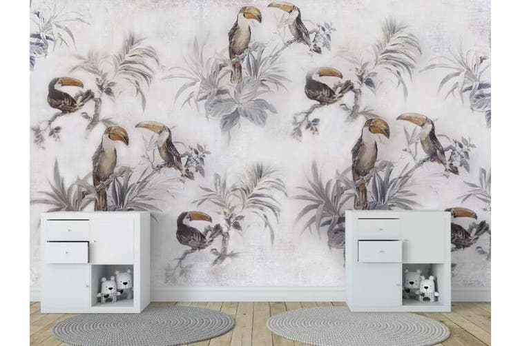 3D Home Wallpaper Toucan Y0 ACH Wall Murals Woven paper (need glue), XXXXL 520cm x 290cm (WxH)(205''x114'')