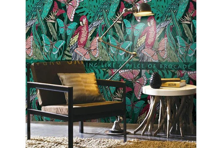 3D Home Wallpaper Butterfly Plant W9 ACH Wall Murals Woven paper (need glue), XL 208cm x 146cm (WxH)(82''x58'')