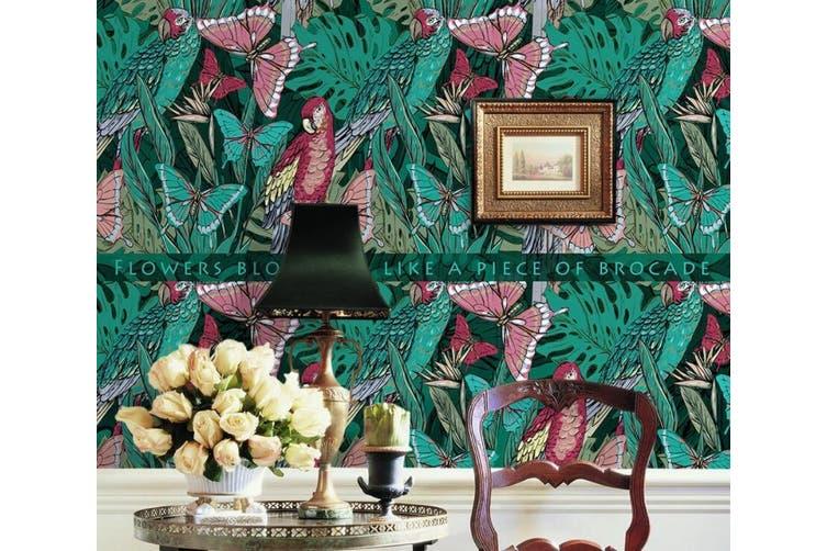 3D Home Wallpaper Butterfly Plant W9 ACH Wall Murals Self-adhesive Vinyl, XL 208cm x 146cm (WxH)(82''x58'')