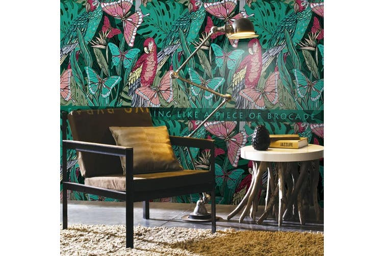 3D Home Wallpaper Butterfly Plant W9 ACH Wall Murals Self-adhesive Vinyl, XXL 312cm x 219cm (WxH)(123''x87'')
