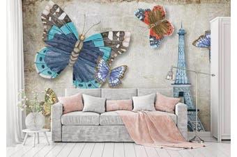 3D Home Wallpaper Butterfly Tower W7 ACH Wall Murals Self-adhesive Vinyl, XXXL 416cm x 254cm (WxH)(164''x100'')