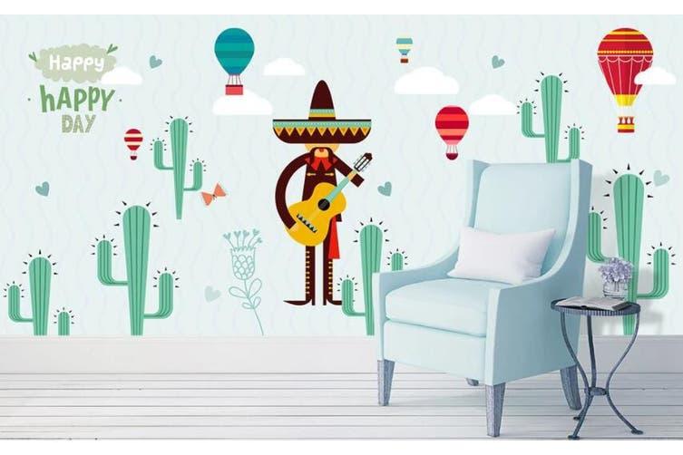 3D Home Wallpaper Hot Air Balloon Cactus W6 ACH Wall Murals Self-adhesive Vinyl, XXXL 416cm x 254cm (WxH)(164''x100'')