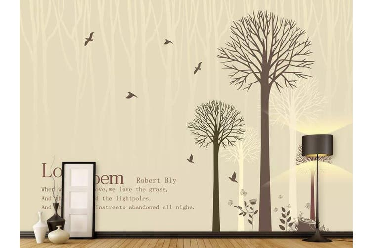3D Home Wallpaper Bird Tree W5 ACH Wall Murals Woven paper (need glue), XXXXL 520cm x 290cm (WxH)(205''x114'')