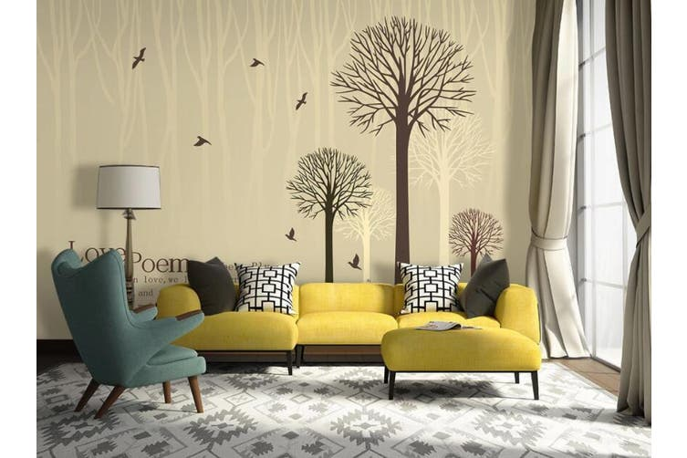 3D Home Wallpaper Bird Tree W5 ACH Wall Murals Self-adhesive Vinyl, XXXL 416cm x 254cm (WxH)(164''x100'')