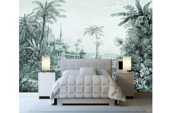 3D Home Wallpaper Castle Plant W3 ACH Wall Murals Woven paper (need glue), XXXL 416cm x 254cm (WxH)(164''x100'')