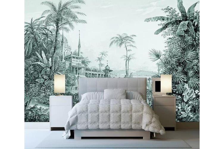 3D Home Wallpaper Castle Plant W3 ACH Wall Murals Self-adhesive Vinyl, XXL 312cm x 219cm (WxH)(123''x87'')