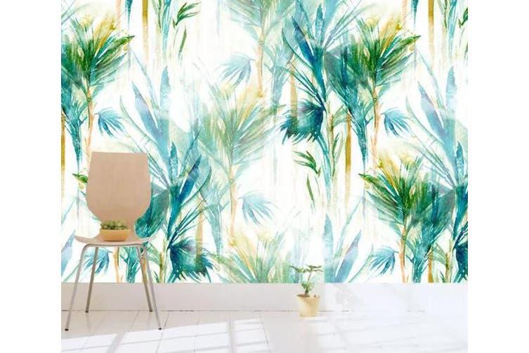 3D Home Wallpaper Green Plant W2 ACH Wall Murals Woven paper (need glue), XXXXL 520cm x 290cm (WxH)(205''x114'')