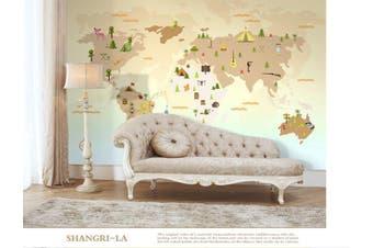 3D Home Wallpaper Color Map W1 ACH Wall Murals Woven paper (need glue), XXXL 416cm x 254cm (WxH)(164''x100'')