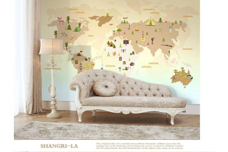 3D Home Wallpaper Color Map W1 ACH Wall Murals Woven paper (need glue), XXXXL 520cm x 290cm (WxH)(205''x114'')