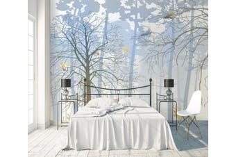 3D Home Wallpaper Foggy Forest W0 ACH Wall Murals Self-adhesive Vinyl, XXL 312cm x 219cm (WxH)(123''x87'')