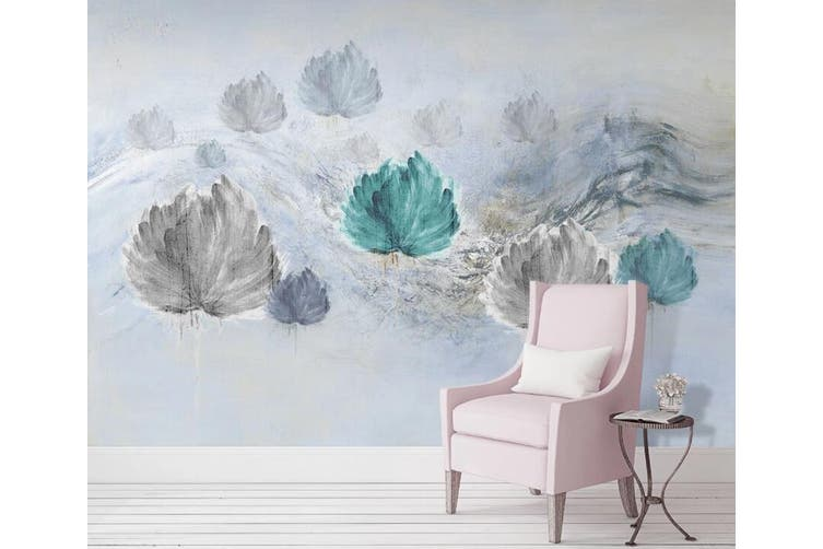 3D Home Wallpaper Colored Leaves 029 ACH Wall Murals Woven paper (need glue), XL 208cm x 146cm (WxH)(82''x58'')
