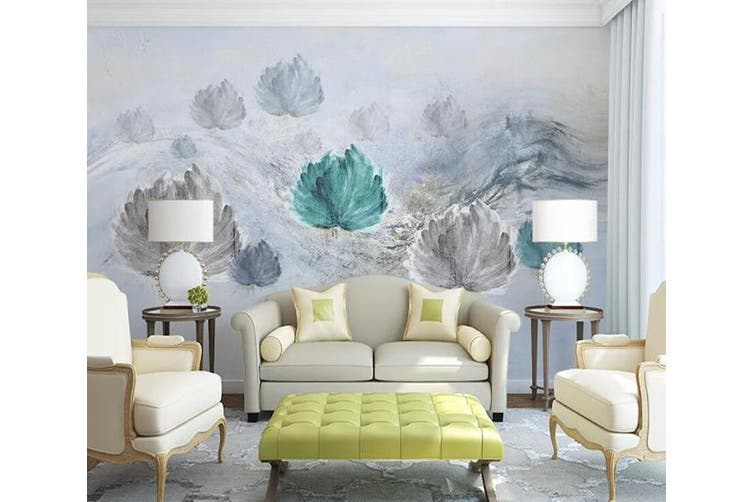 3D Home Wallpaper Colored Leaves 029 ACH Wall Murals Woven paper (need glue), XXL 312cm x 219cm (WxH)(123''x87'')