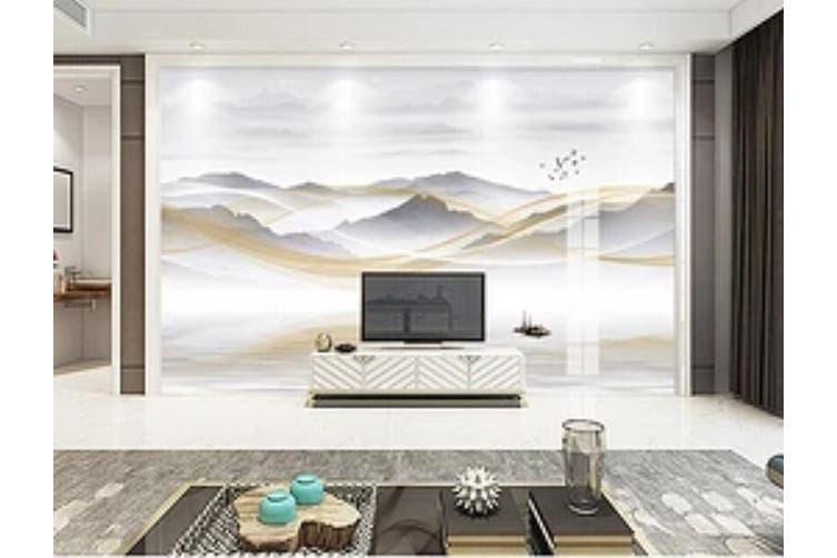 3D Home Wallpaper Mountain River 026 ACH Wall Murals Woven paper (need glue), XXXL 416cm x 254cm (WxH)(164''x100'')
