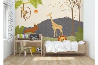 3D Home Wallpaper Animal Park 025 ACH Wall Murals Self-adhesive Vinyl, XXXL 416cm x 254cm (WxH)(164''x100'')
