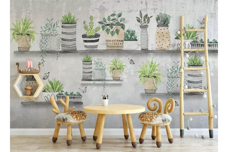 3D Home Wallpaper Green Plant 024 ACH Wall Murals Woven paper (need glue), XL 208cm x 146cm (WxH)(82''x58'')