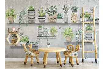3D Home Wallpaper Green Plant 024 ACH Wall Murals Self-adhesive Vinyl, XXL 312cm x 219cm (WxH)(123''x87'')
