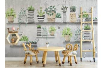 3D Home Wallpaper Green Plant 024 ACH Wall Murals Self-adhesive Vinyl, XXXXL 520cm x 290cm (WxH)(205''x114'')