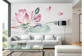 3D Home Wallpaper Lotus 020 ACH Wall Murals Woven paper (need glue), XL 208cm x 146cm (WxH)(82''x58'')