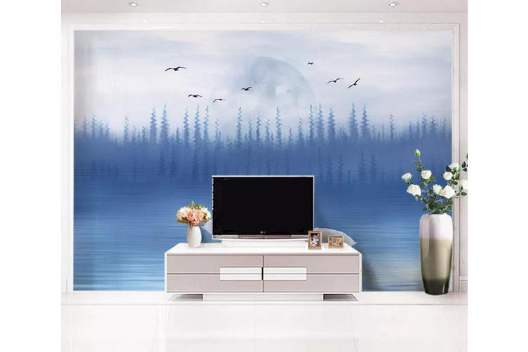 3D Home Wallpaper Swan Lake 019 ACH Wall Murals Woven paper (need glue), XXL 312cm x 219cm (WxH)(123''x87'')