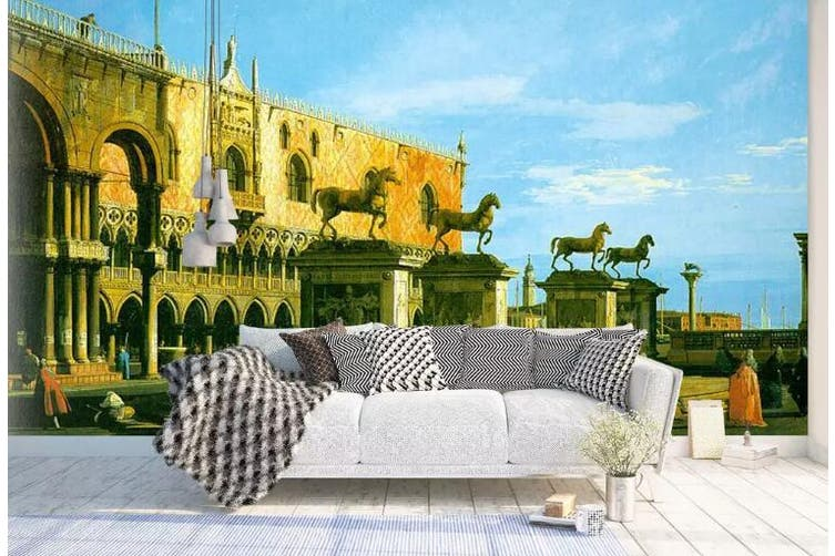 3D Home Wallpaper Castle 0F ACH Wall Murals Woven paper (need glue), XL 208cm x 146cm (WxH)(82''x58'')