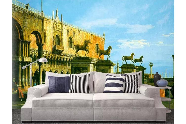 3D Home Wallpaper Castle 0F ACH Wall Murals Self-adhesive Vinyl, XXXL 416cm x 254cm (WxH)(164''x100'')