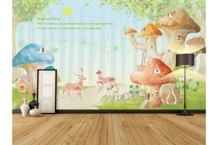 3D Home Wallpaper Dream House 0P ACH Wall Murals Woven paper (need glue), XXL 312cm x 219cm (WxH)(123''x87'')