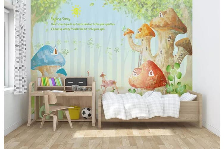 3D Home Wallpaper Dream House 0P ACH Wall Murals Self-adhesive Vinyl, XXXL 416cm x 254cm (WxH)(164''x100'')